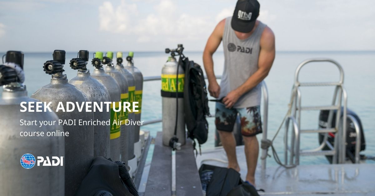 Sailing Club Divers PADI eLearning Enriched Air Diver Course Seting Up Tanks
